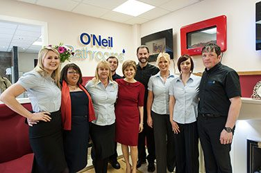 First Minister Nicola Sturgeon visits O'Neil's