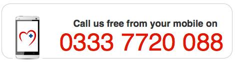 Mobile freephone 03337720088