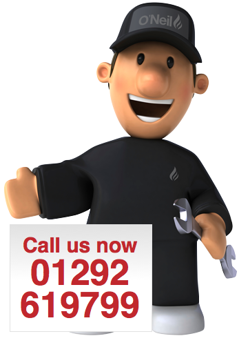Call O'Neil Gas Services in Ayrshire on 01292 619799