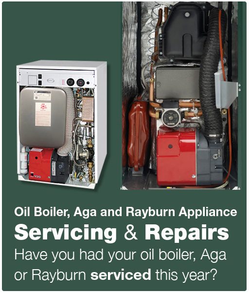 Oil boiler, aga and rayburn appliance servicing and repairs.